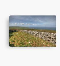 Stone Walls in The Burren Canvas Print