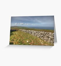 Stone Walls in The Burren Greeting Card