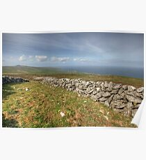 Stone Walls in The Burren Poster