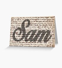 Sam quotes Greeting Card
