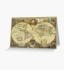World Map 1641 Greeting Card