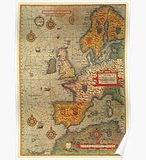 World Map 1500s Posters Redbubble