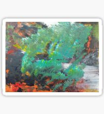 """Tranquility"" Expressive Acrylic landscape Sticker"