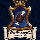 Beefgnawpolis Gaming & Art Logo-Blue Background by SarahBelham