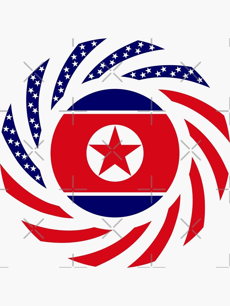 North Korean American Multinational Patriot Flag Series by carbonfibreme