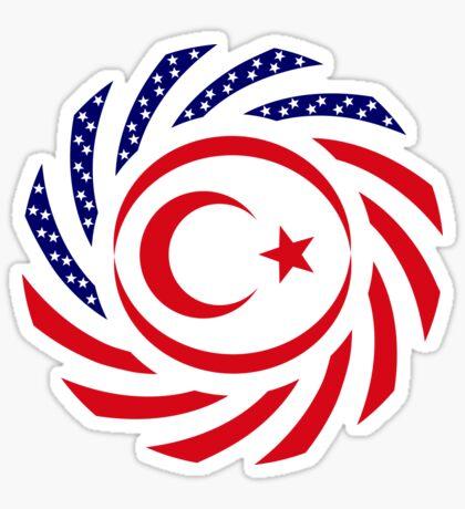 Northern Cyprus American Multinational Patriot Flag Series Sticker
