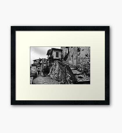 The Back Streets Of Artena Framed Print