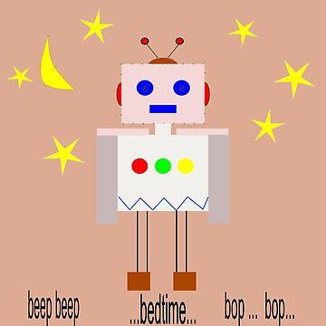 Bedtime robot beep beep by JoAnnFineArt