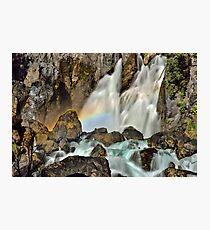 Tarawera Falls Fantail Rainbow Rocks Photographic Print