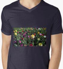 Spring Variety Tulips in Sunset Men's V-Neck T-Shirt