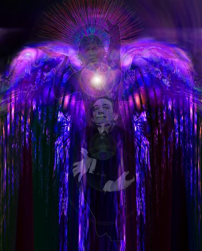 """Salvador Dali in fancy dress as an Angel gets surprised ..."