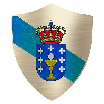 Galicia Flag Shield by ockshirts