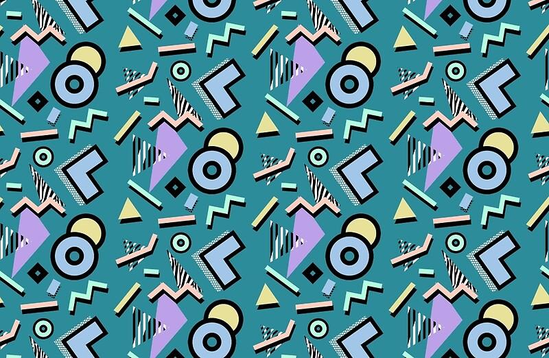 """80s Pattern Vaporwave Memphis Pastel Squiggles"" Studio ..."