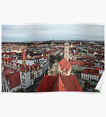 Munich Rooftops Poster