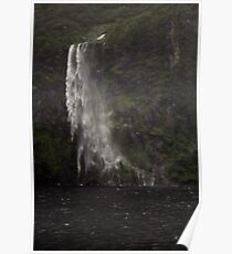 Waterfall, Milford Sound Poster