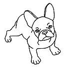 «Bulldog francés, perro, lineart» de nijess