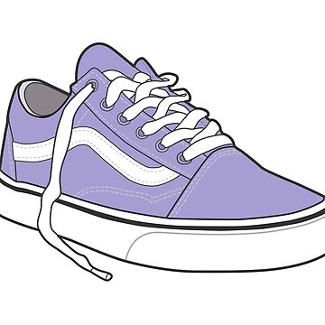 Zapato violeta popular del patinador retro del vintage de tlaprise