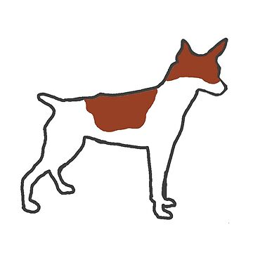 rat terrier white and red silhouette by marasdaughter