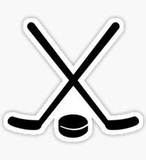 Pegatina Disco de hockey palos