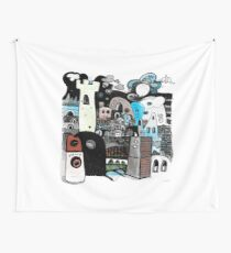 Boxed On Tower Wall Tapestry