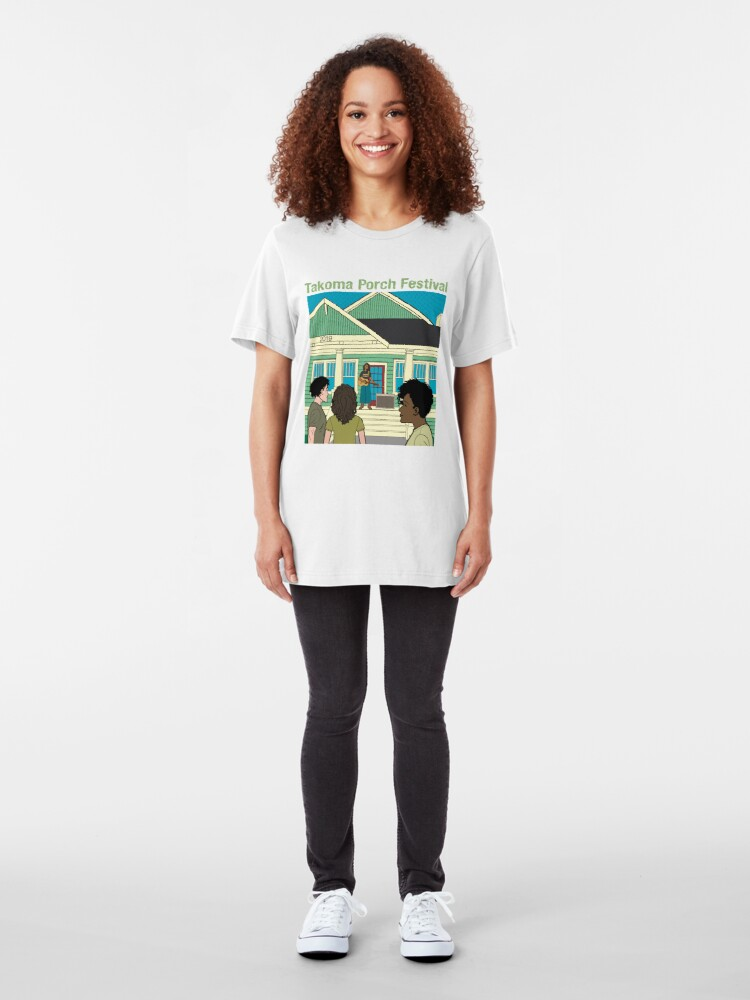 Alternate view of Takoma Porch Festival T-Shirt Slim Fit T-Shirt