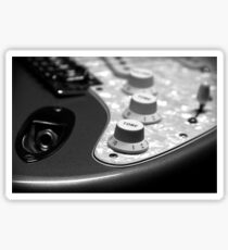 Fender Stratocaster Electronics Detail Black And White Sticker