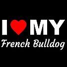 «Amo a mi bulldog francés, perro, diciendo» de nijess