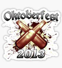 Oktoberfest Beer Bottles 2013 Sticker
