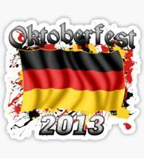 Oktoberfest German Flag 2013 Sticker
