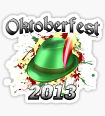 Oktoberfest German Hat 2013 Sticker