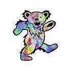 Grateful Dead Dancing Bear Trippy by Jason Levin