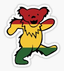 Grateful Dead Dancing Bear Trippy Sticker