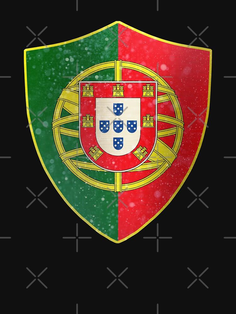 Portugal Flag Shield by ockshirts