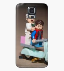 Marty and Doc ride a Scooter Case/Skin for Samsung Galaxy