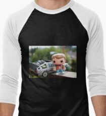 Marty Mcfly Delorean Men's Baseball ¾ T-Shirt