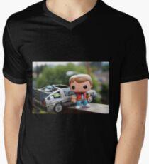 Marty Mcfly Delorean Men's V-Neck T-Shirt