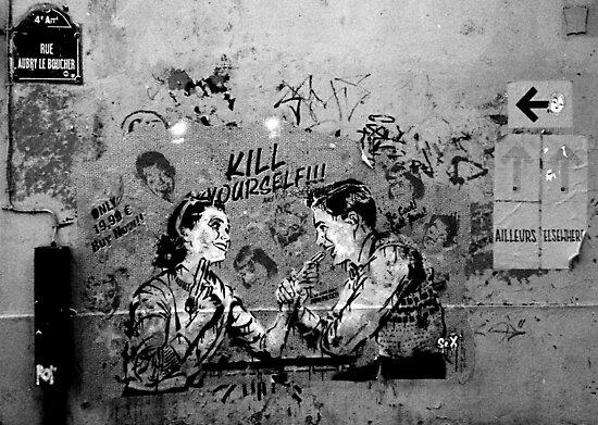 Paris Graffiti XX by Louise Fahy