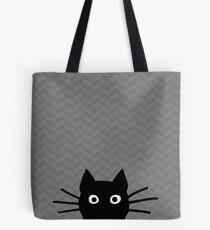 Gesicht der schwarzen Katze Tote Bag