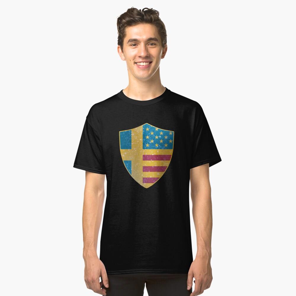 Sweden American Flag Shield copy Classic T-Shirt