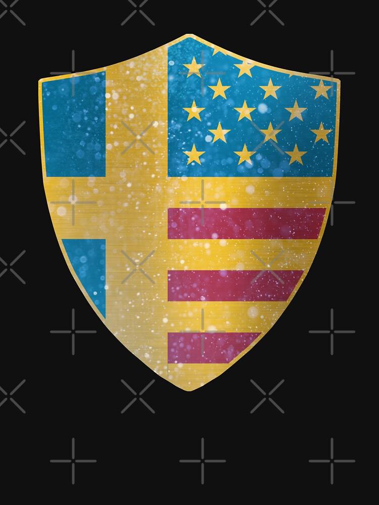 Sweden American Flag Shield copy by ockshirts