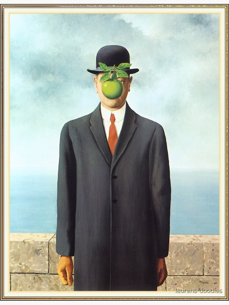 """Magritte's """"The Son of Man"""" by laurens-doodles"""