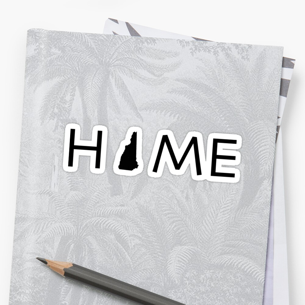 NEW HAMPSHIRE HOME Stickers
