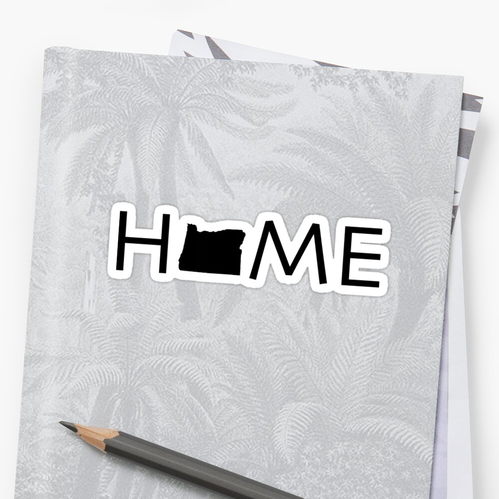 OREGON HOME Stickers