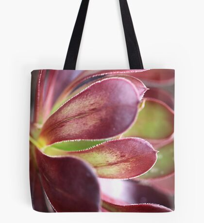 Purple Aeonium Tote Bag