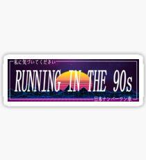 Car Slap - Laufen in den 90ern Sticker