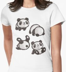 Rolling panda Women's Fitted T-Shirt