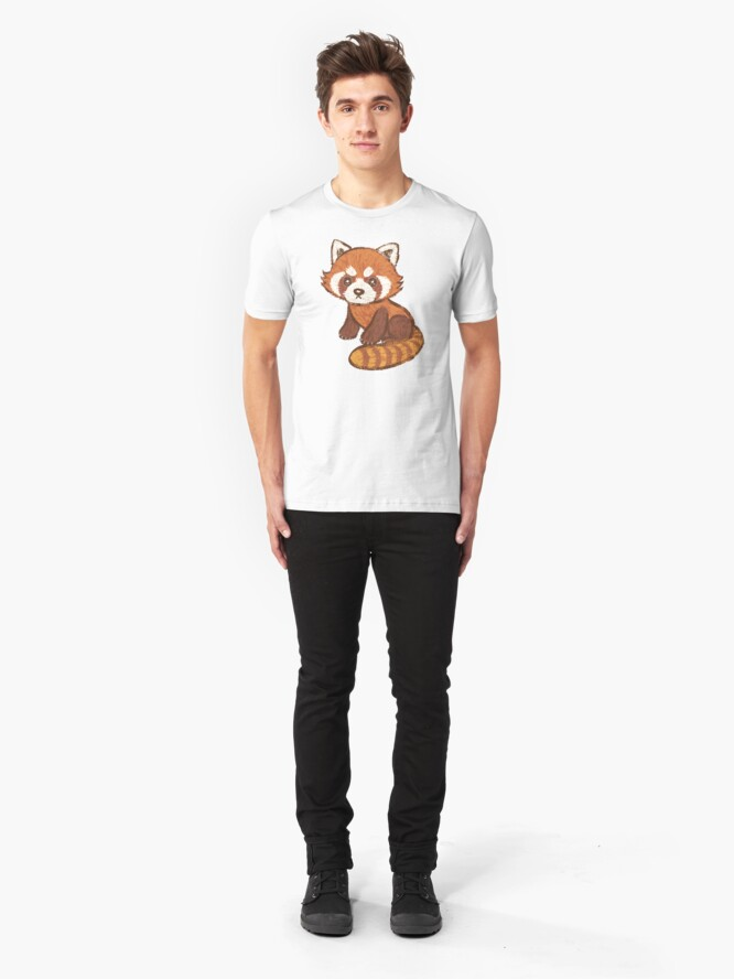 Alternate view of Red Panda Slim Fit T-Shirt