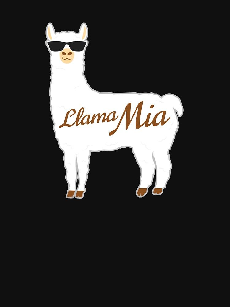 Lama Mia Mama Mia Bestes Geschenk für Alpaka-Liebhaber von BUBLTEES