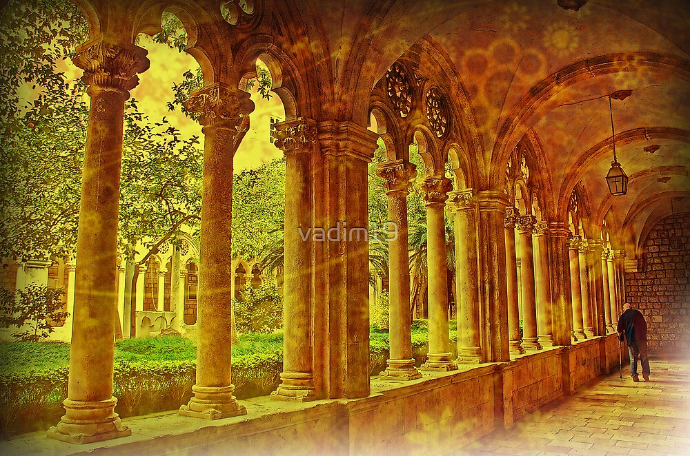 Cloisters. Dominican Monastery. Dubrovnik. by vadim19