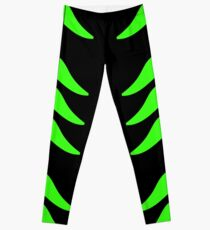 Animal Print Neon Green And Black Pattern Leggings